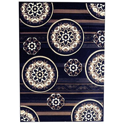 Hartsfield Black Area Rug Rug Size: 4 x 6