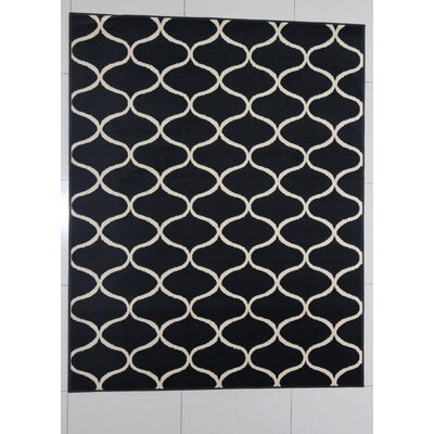 Harborview Black Area Rug Rug Size: 53 x 72