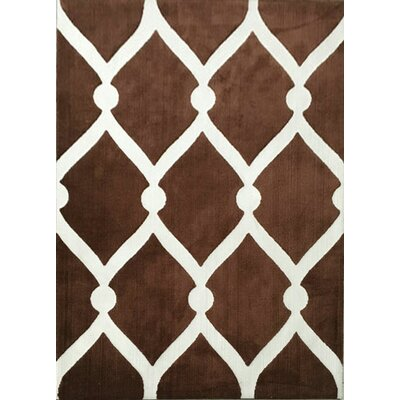 Ansari Brown Area Rug Rug Size: 53 x 72