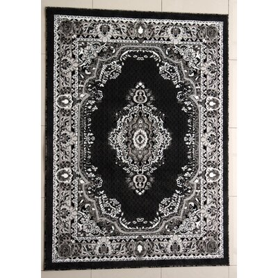 Peachstone Dark Gray Area Rug Rug Size: 53 x 72