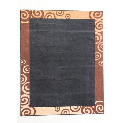 Hardin Black Area Rug Rug Size: 53 x 72