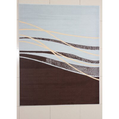Mischari Brown Area Rug Rug Size: 5'3