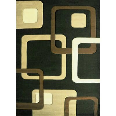 Kirstin Brown Area Rug Rug Size: 4 x 6