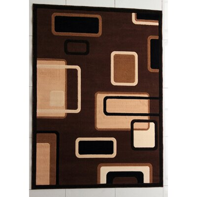 Schenck Brown Area Rug Rug Size: 53 x 72