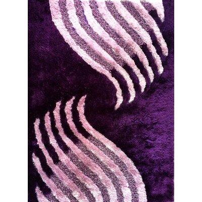 Kwame Purple Area Rug Rug Size: 53 x 72