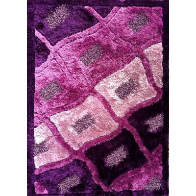 Rajat Purple Area Rug Rug Size: 53 x 72