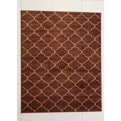 Hazel Brown Area Rug Rug Size: 53 x 72