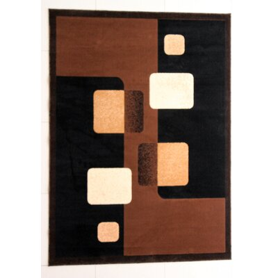 Evelyne Brown Area Rug Rug Size: 53 x 72