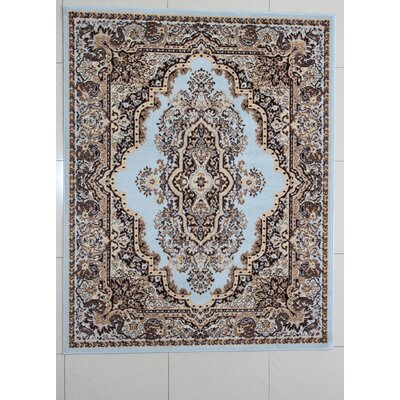 Queensway Blue Area Rug Rug Size: 53 x 72
