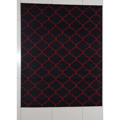 Hausmann Black Area Rug Rug Size: 711 x 910