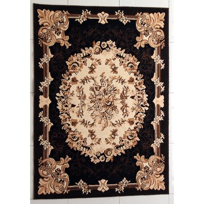 Rayborn Black/Brown Area Rug Rug Size: Rectangle 53 x 72
