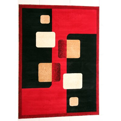 OLoughlin Red Area Rug Rug Size: Runner 2 x 72