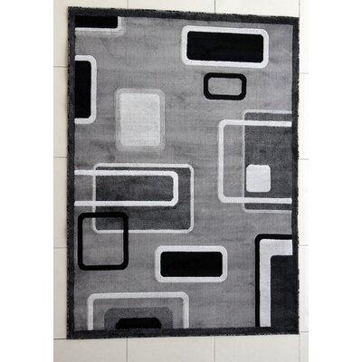 Hedrick Dark Gray Area Rug Rug Size: 4 x 6