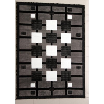 Harting Dark Gray Area Rug Rug Size: 53 x 72