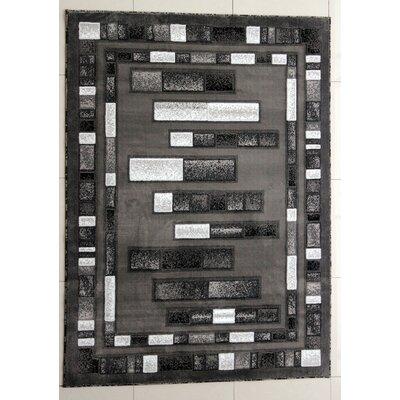Gaynelle Black Area Rug Rug Size: 53 x 72