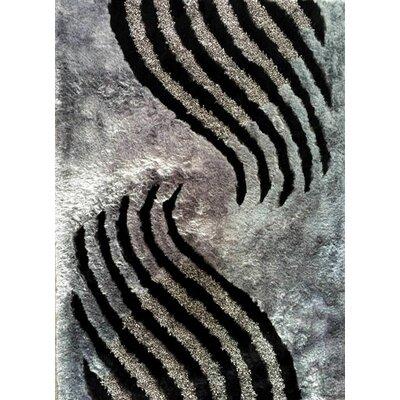 Simran Black Area Rug Rug Size: 53 x 72