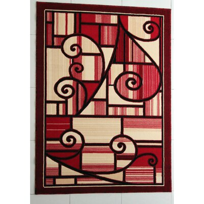 Hartland Red Area Rug Rug Size: Runner 2 x 72
