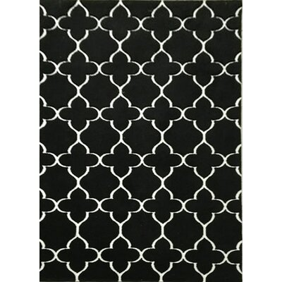 Pine Bluff Black Area Rug Rug Size: 53 x 72