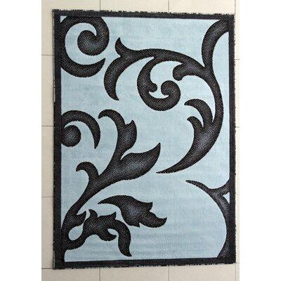 Lucinda Dark Blue Area Rug Rug Size: 3 x 5