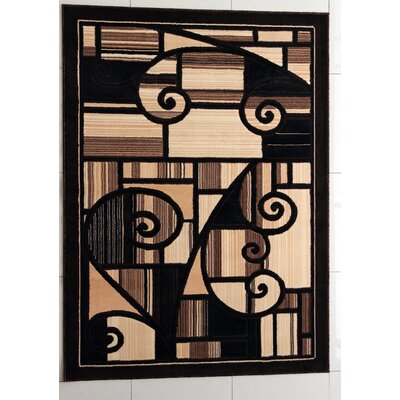 Harshaw Black Area Rug Rug Size: Rectangle 4 x 6