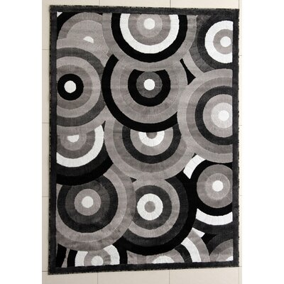 Vidula Dark Gray Area Rug Rug Size: Runner 27 x 91