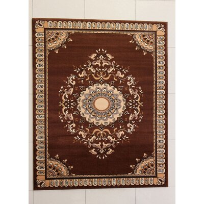 Abney Brown Area Rug Rug Size: 711 x 910