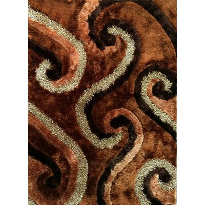 Rehana Brown Area Rug Rug Size: 53 x 72