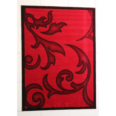 Francine Red Area Rug Rug Size: Runner 27 x 91