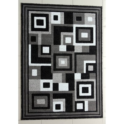 Rabehi Dark Gray Area Rug Rug Size: Runner 27 x 91
