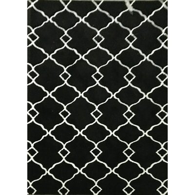 Catina Black Area Rug Rug Size: 711 x 910