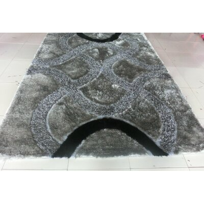 Joshawn Gray Area Rug Rug Size: 53 x 72