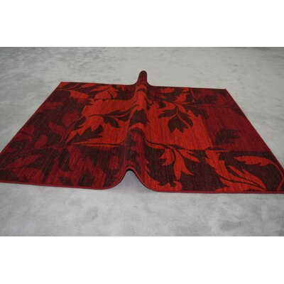 Humphries Wool Red Area Rug Rug Size: Rectangle 53 x 72