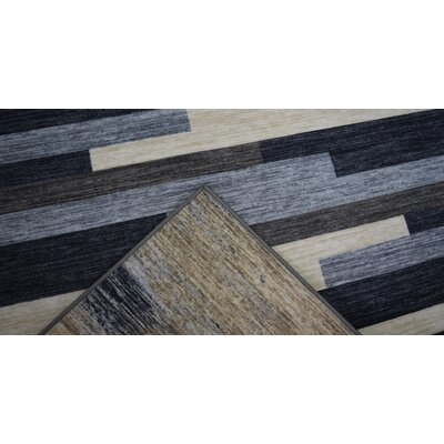 PJ Wool Gray/Beige Area Rug Rug Size: Rectangle 711x910