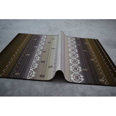 Huynh Wool Brown/Gray Area Rug Rug Size: Rectangle 53 x 72