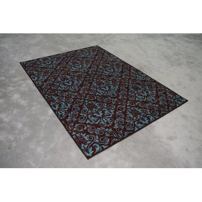 Nishchita Wool Blue/Brown Area Rug Rug Size: Rectangle 53 x 72
