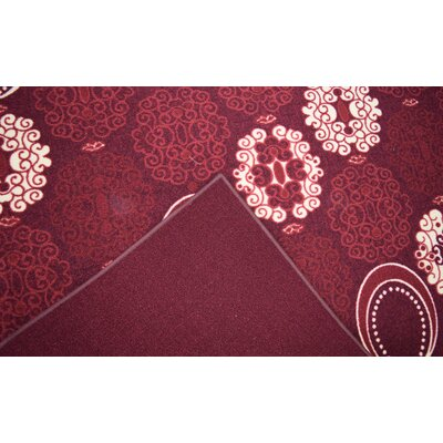 Huntington Wool Red Area Rug Rug Size: Rectangle 2 x 3