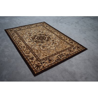 Rocher Wool Beige/Brown Area Rug Rug Size: Rectangle 3 x 5