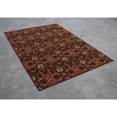 Rockdale Wool Red/Brown Area Rug Rug Size: Rectangle 711 x 910