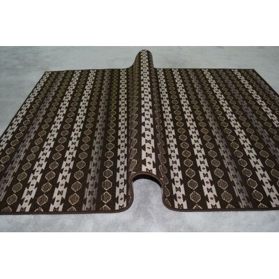 Idalia Wool Brown/Beige Area Rug Rug Size: Rectangle 27 x 72