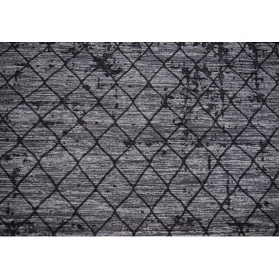 Luqi Wool Gray/Black Area Rug Rug Size: Rectangle 4 x 6