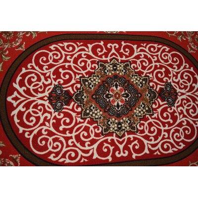 Rochelle Wool Red Area Rug Rug Size: Rectangle 711 x 910