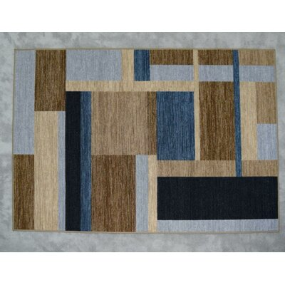 Balke Wool Gray/Brown/Blue Area Rug Rug Size: Rectangle 53 x 72