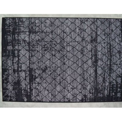 Luqi Wool Gray/Black Area Rug Rug Size: Rectangle 2 x 3