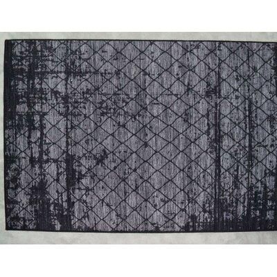 Luqi Wool Gray/Black Area Rug Rug Size: Rectangle 2 x 3
