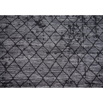 Luqi Wool Gray/Black Area Rug Rug Size: Runner 27 x 72