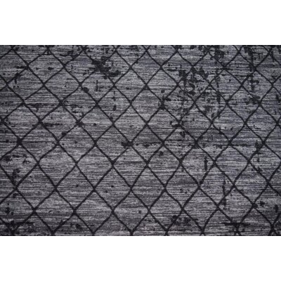 Luqi Wool Gray/Black Area Rug Rug Size: Rectangle 3 x 5