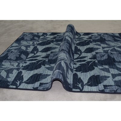 Roberts Wool Blue Area Rug Rug Size: Rectangle 711x 910