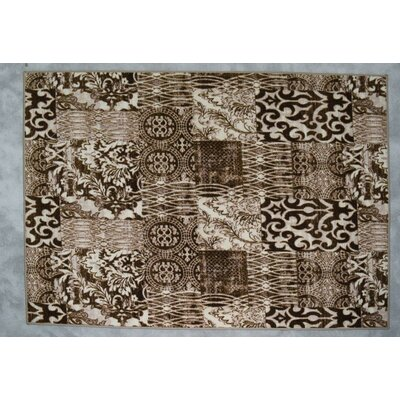 Huntley Wool Ivory/Brown/Gray Area Rug Rug Size: Rectangle 53 x 72