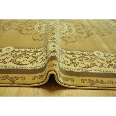Nickell Beige Area Rug Rug Size: 53 x 72