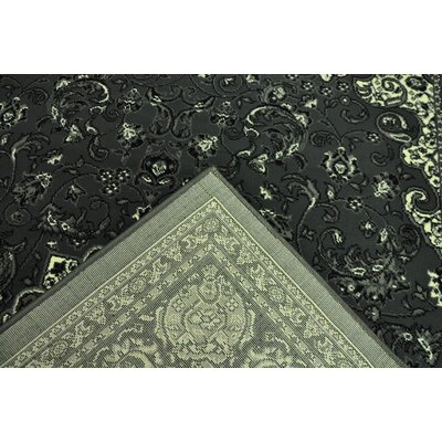 Zoelle Traditional Gray/Black Oriental Area Rug Rug Size: Runner 27 x 146